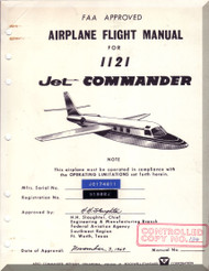 Aero Commander 1121   Aircraft Flight Manual - 1964