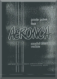 Aeronca 15  AC   Aircraft Parts Price List  Manual
