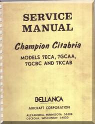 Bellanca Champion Citabria 7ECA M 7GCAA, 7GCBC 7KCAB  Aircraft Service  Manual, 1976