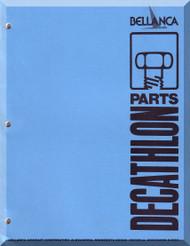 Bellanca Champion Dechatlon  Aircraft Illustrated Parts Catalog   Manual, 1978