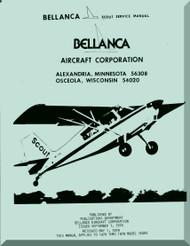 Bellanca Scout   Aircraft Service  Manual - 1978