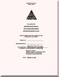 AirTractor 401B  Aircraft Airplane Flight Manual