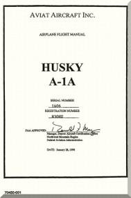 Aviat Husky A-1A Aircraft Airplane Flight  Manual