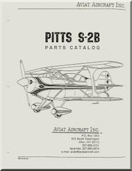 Aviat Pitts S-2B Aircraft Airplane Parts Catalog  Manual -