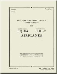 Culver PQ-8A TDC2 Aircraft  Erection and Maintenance Manual - 1943 09-5FB-2