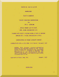 Hughes XF-11 Aircraft Flight Operating Instruction Manual