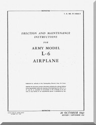 Interstate L-6  Aircraft Erection and Maintenance Instruction  Manual , T.O. 01-160LA-2, 1943