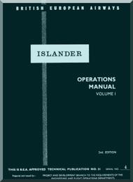 De Havilland D.H. 89 Inslander Aircraft Operator's Manual