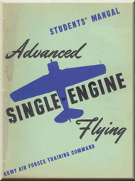 Aircraft  Advance Single Engine Flying Training Manual - USAAF