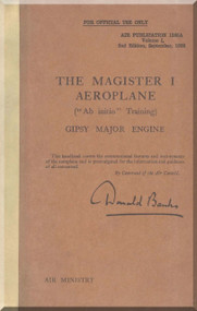 Miles Magister  Aircraft Service Handbook Manual