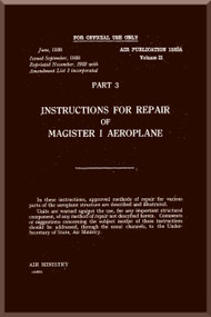 Miles Magister  Aircraft  Repair Manual