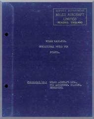 Miles Magister  Aircraft  Operational Pilot Notes Manual