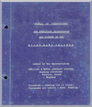 Miles Hawk  Aircraft Operation Maintenance Rigging Manual