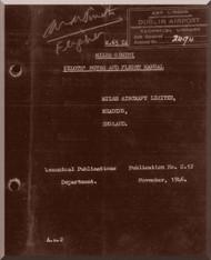Miles  Gemini  Aircraft  Pilot Notes and Flight Manual