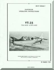 TEMCO YT-35 Buckaroo Aircraft Handbook  Manual - 01-165AAA-1 - 1951