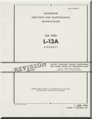 Stinson L-13 A Aircraft Erectiom and Maintenance Manual - 01-5DAA-2 - 1948