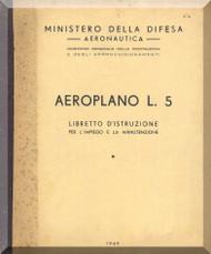 Stinson  L-5 , Aircraft Pilot's Instruction  Manual , Libretto di Istruzione ( Italian Language ) , 1949