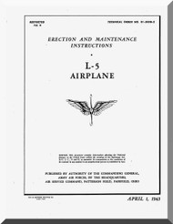 Stinson  L-5 Aircraft Erection and Maintenance  Manual , AN 01-500B-2,  1943
