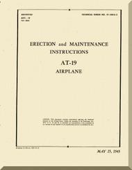 Stinson  AT-19  Aircraft Erection and Maintenance  Manual , T.O. 01-50KA-2,   1943