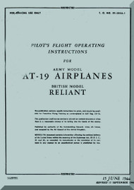 Stinson AT-19 Aircraft Flight Manual - 01-50KA-1 - 1944
