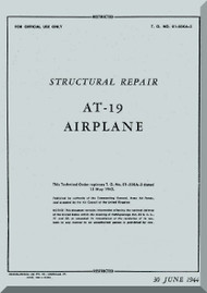 Stinson  AT-19  Aircraft Structural Repair  Manual , T.O. 01-50KA-3,   1944