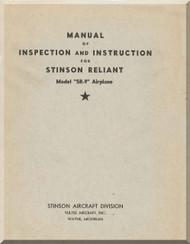 Stinson  SR-9 Reliant Aircraft Inspection Instruction  Manual - 1944