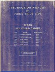 WACO Standard Cabin Instruction  Manual  and Parts Price List