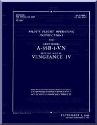 Vultee  A-35B-1-VN  Aircraft Pilot's  Flight Operating insruction  Manual - AM 01-50E-1 - 1943