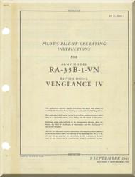 Vultee  RA-35B-1-VN  Aircraft Pilot's  Flight Operating insruction  Manual - AM 01-50AE-1 - 1943