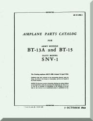 Vultee   BT-13  A, BT-15, SNV-1, Airplane Parts catalog   Manual -  T.O. 01-50BC-4 ,1944
