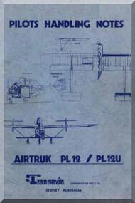 Transavia AirTruk PL 12 PL 12 U Pilot Handling Notes Manual