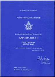 GAF Nomand N24A Aircraft Flight Manual - AAP 7211.022-1-1 - 1993