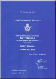 GAF Nomand N22 Mk.1 Aircraft Flight Manual - AAP 7211.016-1 - 1988