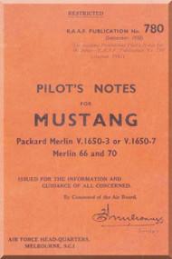 CAC / NAA CA-17 / P-51 Mustang Aircraft Pilot Manual