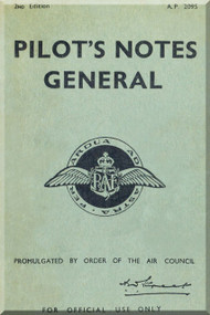 Royal Air Force Pilot's Notes General A.P. 2095