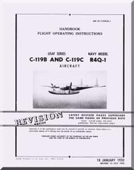 Fairchild C-119 B, C R4Q-1  ,  Handbook Flight Operating Instructions Manual TO  01-115CCA-1B-1 , 1950
