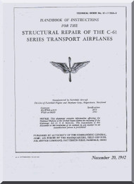 Fairchild C-61  ,  Structural Repair Manual TO  01-115CA-3 , 1942