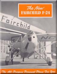 Fairchild F-24  ,  Technical Brochure  Manual