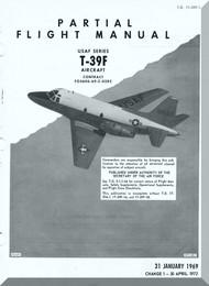 North American Aviation T-39 F  Aircraft Preliminary Flight Manual - T.O 1T-39F-1  1969