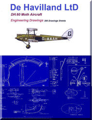 De Havilland DH.60 Moth Aircraft Blueprints Engineering Drawings - Download