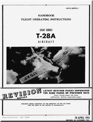 North American Aviation T-28 A Aircraft Flight Manual 1T-28A-1 - 1971