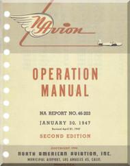 North American Aviation Navion  Aircraft  Operation  Manual -  Report NA-46-203 , 1947