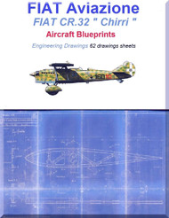 "FIAT CR.32 "" Chirri "" Aircraft Blueprints Engineering Drawings - Download"