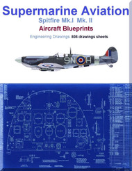 Supermarine Spitfire Mk.I  Mk. II Aircraft Blueprints Engineering Drawings - Download
