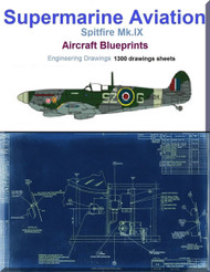 Supermarine Spitfire Mk.IX Aircraft Blueprints Engineering Drawings - Download