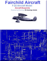 Fairchild F-22 Aircraft Blueprints Engineering Drawings - Download
