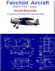 """Fairchild F-24 """" Argus """" Aircraft Blueprints Engineering Drawings - Download"""