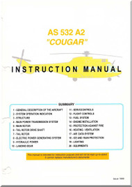 Aerospale  AS 532 A2  Helicopter Instruction Training  Manual