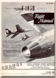 Republic F-105 B  Aircraft Flight Handbook  Manual TO 1F-105B-1  1960