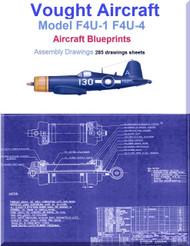 Vought F4U-1  F4U-4 Aircraft Blueprints Assembly Drawings - Download